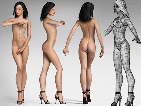 3д модели девушек секси